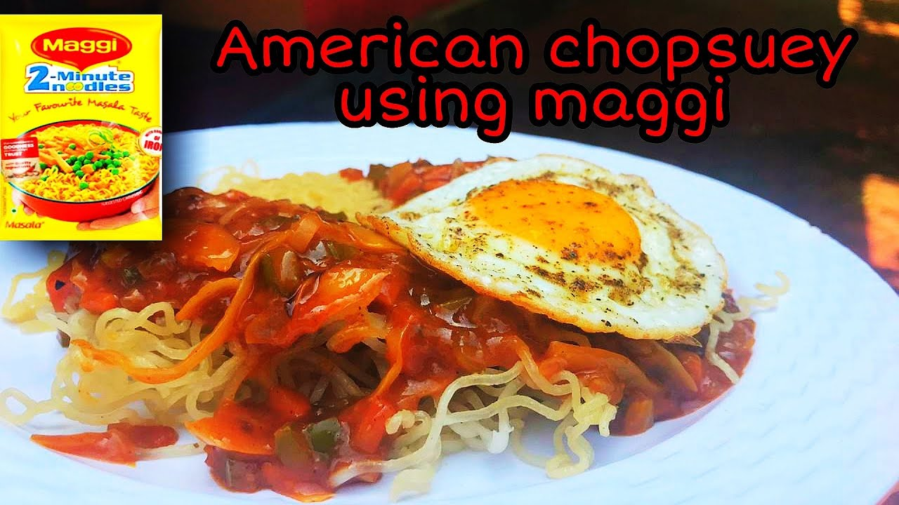 American Chopsuey Using Maggi