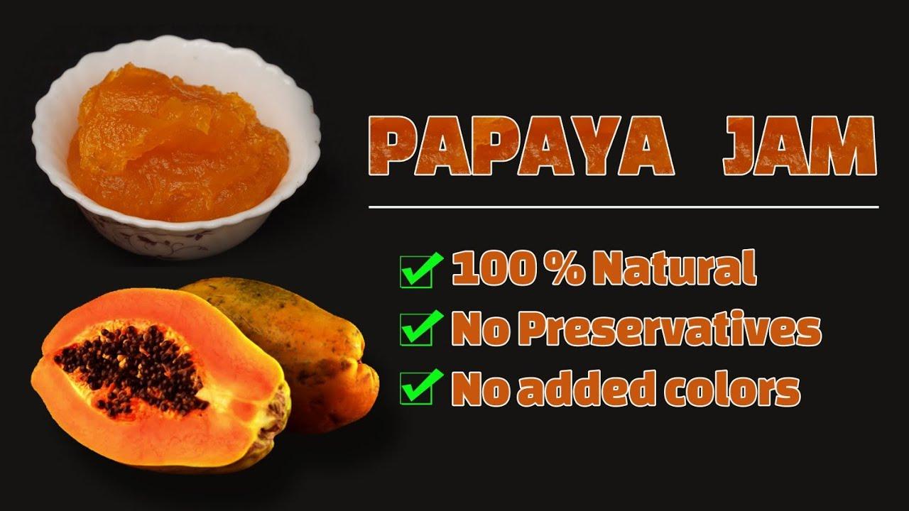 Natural papaya jam for kids