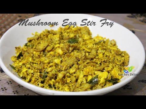 Mushroom Egg Stir Fry